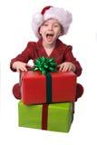 Menino do Natal Fotografia de Stock