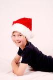 Menino do Natal feliz imagem de stock royalty free