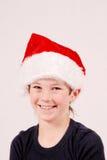 Menino do Natal feliz foto de stock