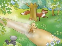 Menino do pão-de-espécie com animais Imagens de Stock Royalty Free