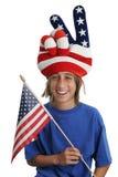 Menino do patriota dos EUA Fotos de Stock