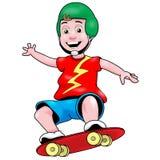 Menino do skater ilustração royalty free