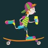 Menino do skater Ilustração do Vetor