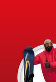 Menino do Snowboarder Foto de Stock