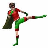 Menino 4 do super-herói Foto de Stock Royalty Free
