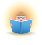 Menino do VETOR com um livro Imagens de Stock