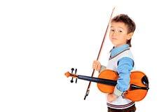 Menino do violino foto de stock