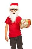 Menino do Xmas com máscara e barba Imagem de Stock