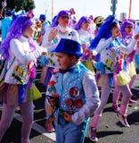 Menino doce dos doces no carnaval em Fiume, Croácia Fotografia de Stock