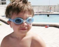 Menino dos óculos de proteção Imagem de Stock