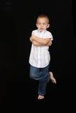 menino dos anos de idade 5 Fotografia de Stock Royalty Free