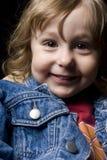 Menino dos anos de idade dois com um sorriso grande Imagem de Stock Royalty Free