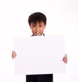 Menino dos anos de idade nove Fotografia de Stock Royalty Free