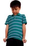 Menino dos anos de idade nove Fotografia de Stock