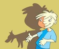 Menino dos desenhos animados ilustração stock