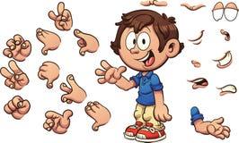 Menino dos desenhos animados Foto de Stock