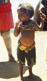 Menino dos jovens do tribo Zulu foto de stock