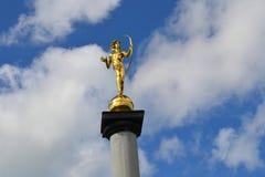 Menino dourado Foto de Stock Royalty Free