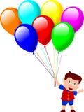 Menino e balões Foto de Stock Royalty Free