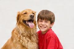 Menino e cão imagens de stock royalty free