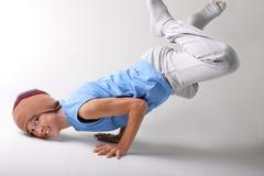 Menino e dança Fotos de Stock
