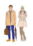 Menino e menina à moda Fotos de Stock Royalty Free