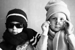 Menino e menina Fotos de Stock Royalty Free