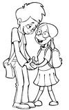 Menino e menina Foto de Stock