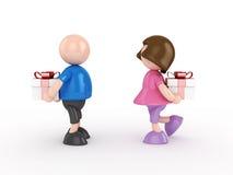 Menino e menina Ilustração Stock