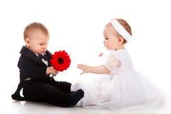 Menino e menina Imagens de Stock Royalty Free