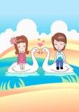 Menino e menina com amor Foto de Stock Royalty Free