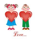 Menino e menina do amor Fotos de Stock