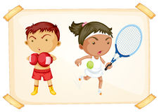 Menino e menina do esporte Foto de Stock Royalty Free