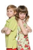 Menino e menina do ruivo da fôrma Imagens de Stock Royalty Free