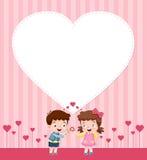 Menino e menina dos desenhos animados Fotografia de Stock