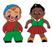 Menino e menina - miúdos Imagens de Stock
