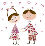 Menino e menina no amor Foto de Stock