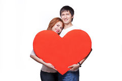 Menino e menina no amor Fotografia de Stock