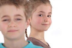 Menino e menina novos Foto de Stock Royalty Free