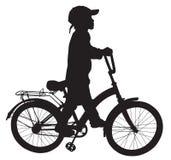 Menino em bike04 Imagens de Stock Royalty Free