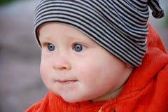 Menino em chapéu listrado Imagem de Stock