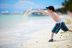 Menino em férias Foto de Stock Royalty Free