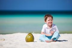 Menino em férias Imagens de Stock