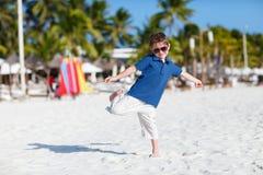 Menino em férias Foto de Stock
