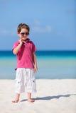 Menino em férias Fotos de Stock Royalty Free