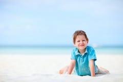 Menino em férias Fotos de Stock
