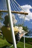 Menino em um hammock Fotografia de Stock