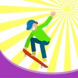 Menino em um skate Fotografia de Stock