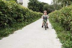 Menino em uma bicicleta Imagem de Stock Royalty Free
