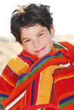Menino em uma toalha Imagem de Stock Royalty Free